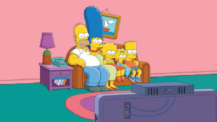 THE SIMPSONS: The Simpson Family.  THE SIMPSONS ™ and ©2013 TCFFC ALL RIGHTS RESERVED.