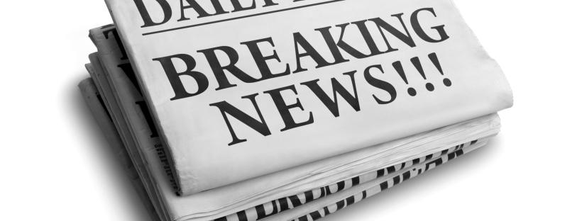Breaking news daily newspaper headline