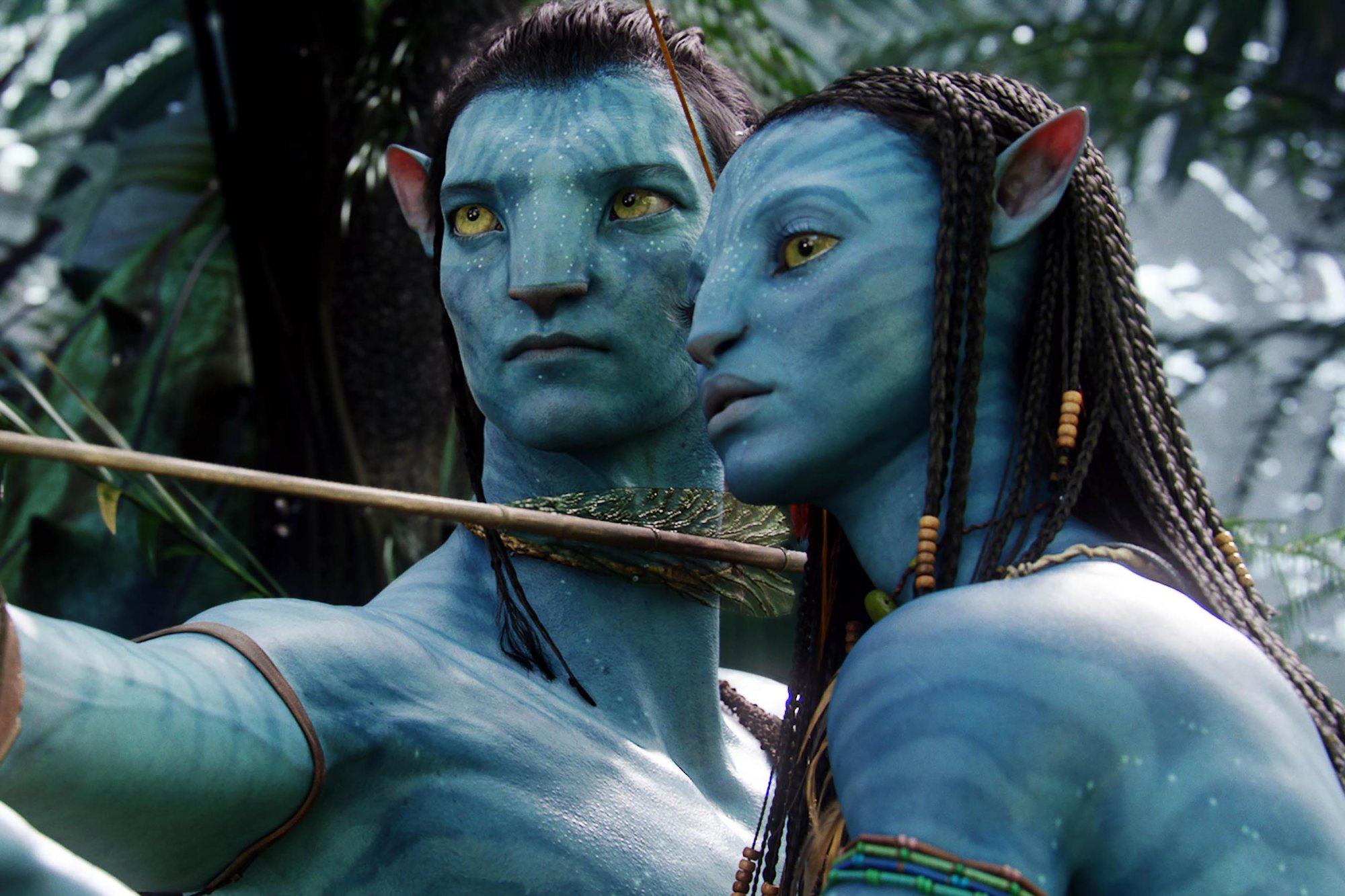 Avatar (2009) Sam Worthington and Zoe Saldana CR: WETA