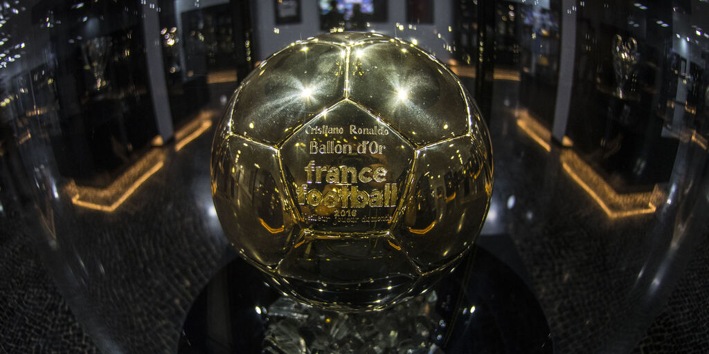 FUNCHAL, MADEIRA, PORTUGAL - DECEMBER 29: Detail view of the fourth Balon D'or award won by Cristiano Ronaldo at the CR7 Museum on December 29, 2016 in Funchal, Madeira, Portugal. The museum is dedicated to the Real Madrid and Portugal footballer's success in his hometown Funchal, on the island of Madeira. (Photo by Octavio Passos/Getty Images)